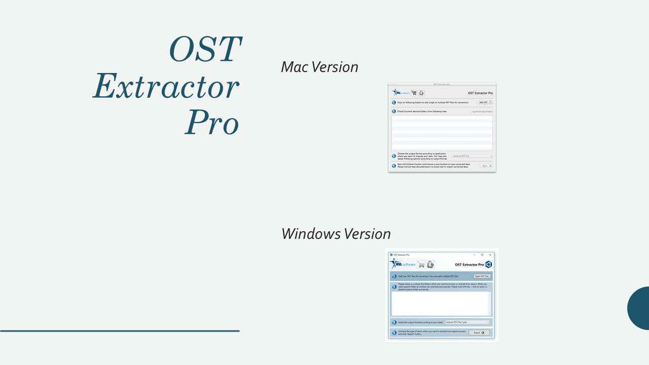 OST to PST converter software for Microsoft Outlook - MBOX to PST